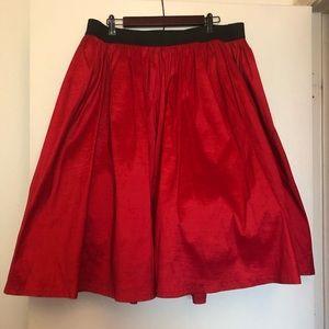 Torrid Red A-Line Midi Skirt